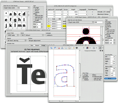 Editing OpenType and TrueType fonts in DTL OTMaster