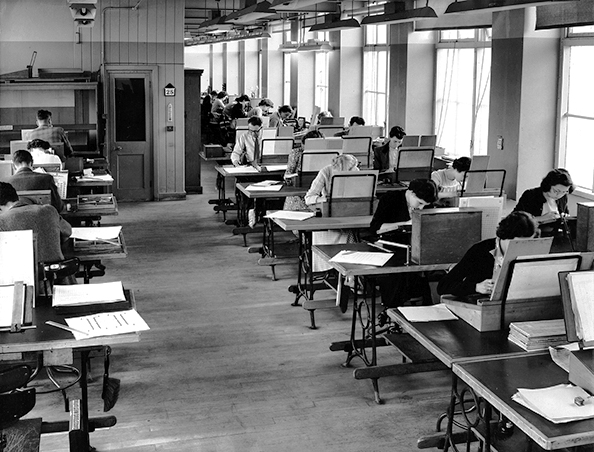 Monotype Type Drawing Office in the 1950s