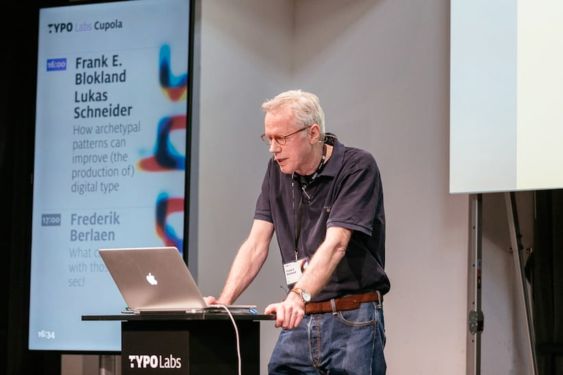 Frank E. Blokland speaking at the TYPO Labs 2017 conference