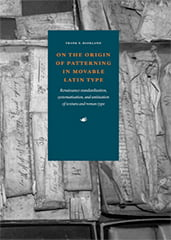 Cover of 'On the Origin of Patterning of Movable Latin Type'