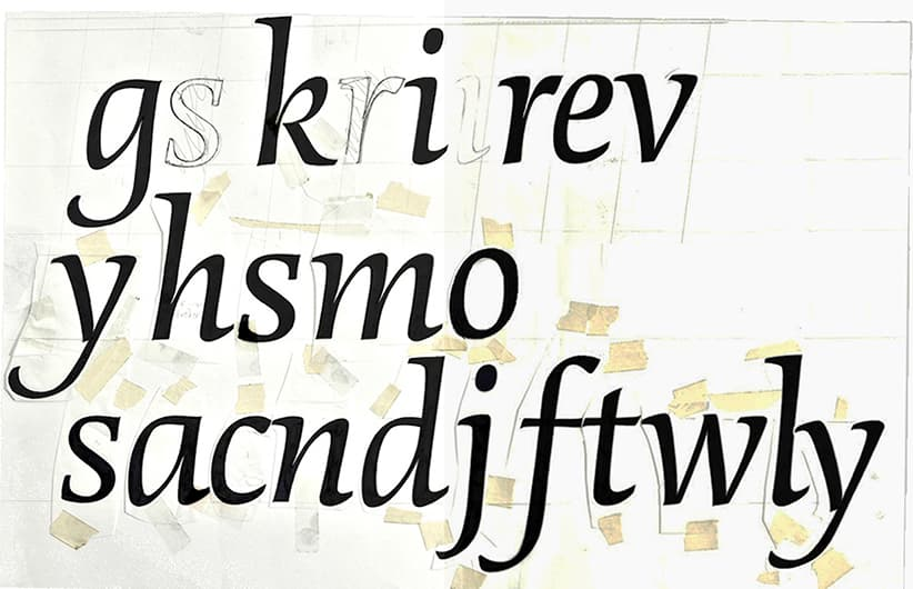 First sketches for DTL Dorian italic from 1991