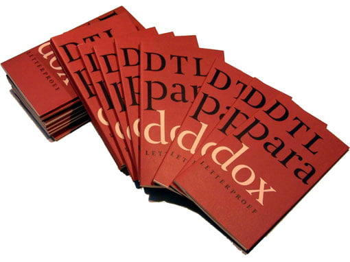 DTL Paradox type specimen