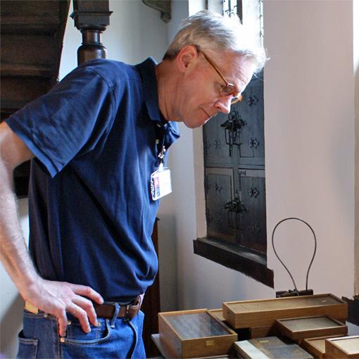 Frank E. Blokland at the Museum Plantin-Moretus