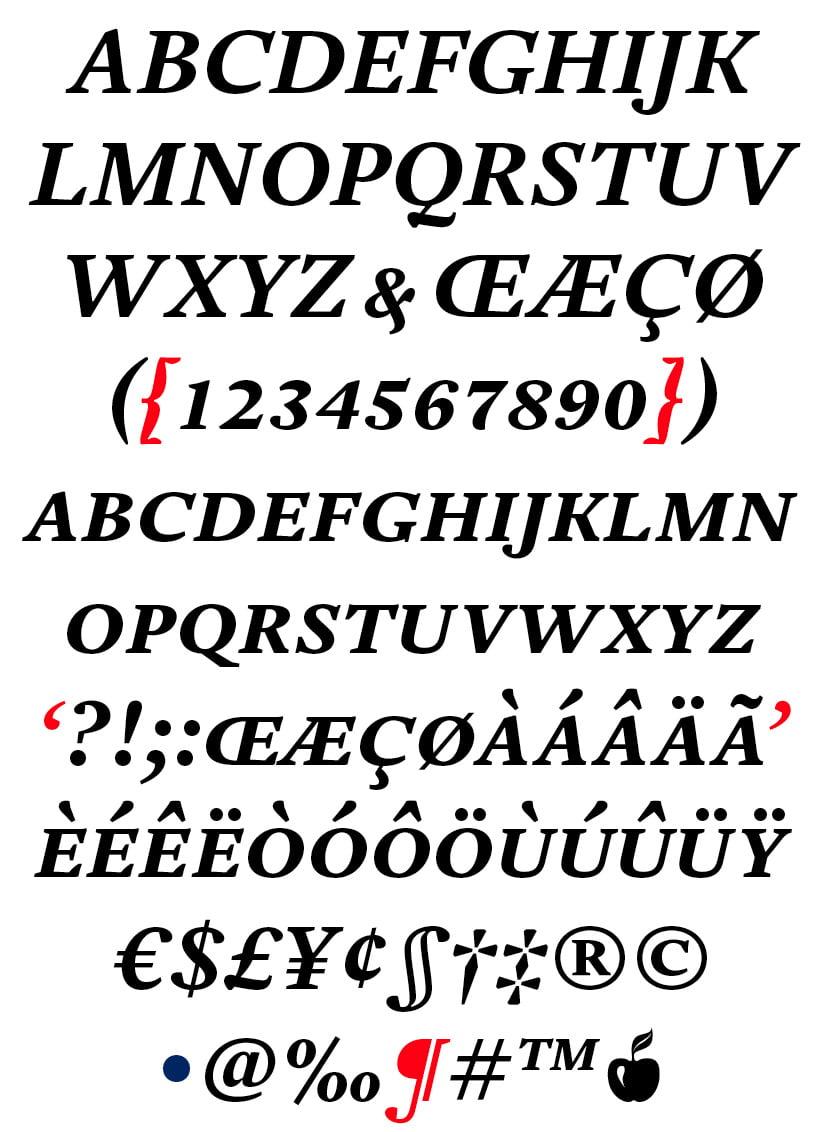 DTL Estuary Caps Bold Italic