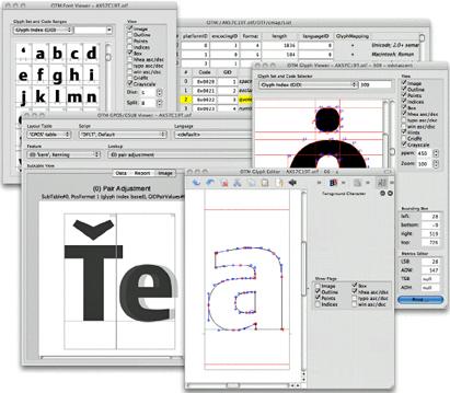 Editing OpenType and TrueType fonts in DTL OTMaster