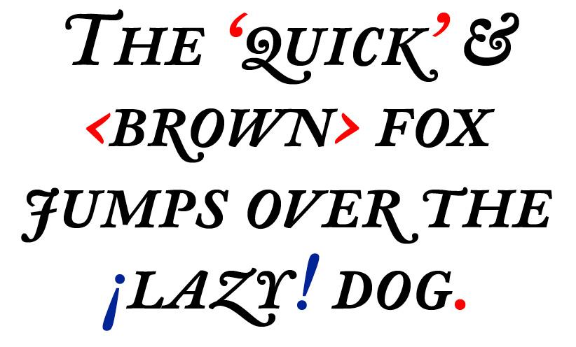 DTL Fell Text Caps Medium Italic