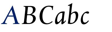 DTL Albertina Book Italic