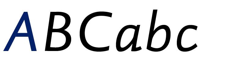 DTL Haarlemmer Sans Italic