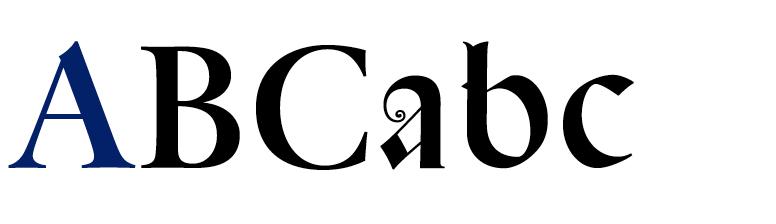 DTL Spanish Canon with roman capitals