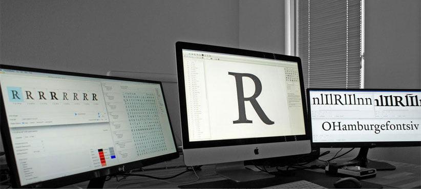 Font production at DTL