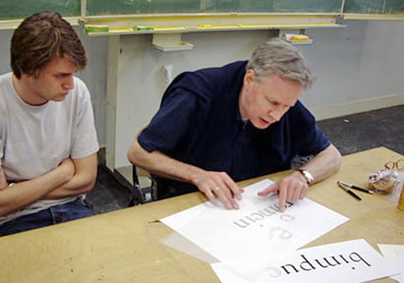 Frank E. Blokland lecturing at the KABK