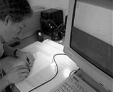 Manual digitizing in IKARUS