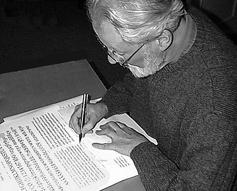 Michael Harvey at DTL's HQ around 2000