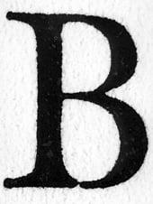 Capital B from Hendrik van den Keere's Parangon Roman