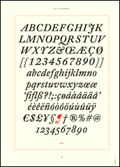 Page from DTL's looseleaf type specimen