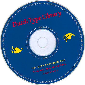 DTL Typescpecimen on CD