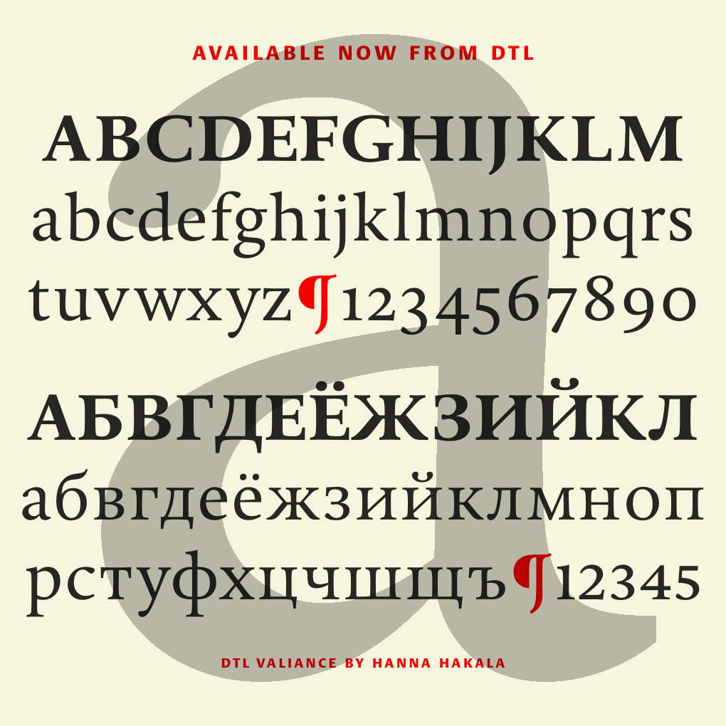 Dutch Type Library -Exclusive fonts of the highest quality